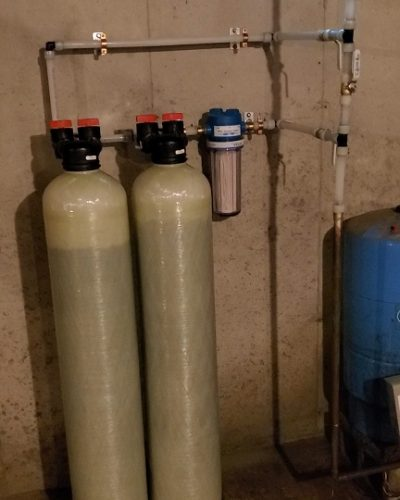 Double tank carbon system. Removes radon in water project